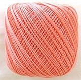 ダルマ レース糸#40 紫野 7薄オレンジ