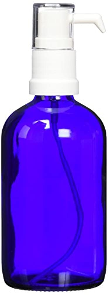 ease ポンプ ガラス 青色 100ml