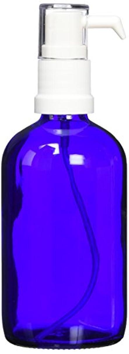 寝室チョコレート軽くease ポンプ ガラス 青色 100ml
