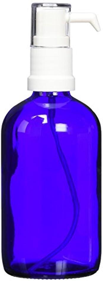 発明伝統アボートease ポンプ ガラス 青色 100ml