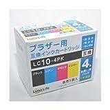 【Luna Life】 ブラザー用 互換インクカートリッジ LC10-4PK 4本パック LN BR10/4P