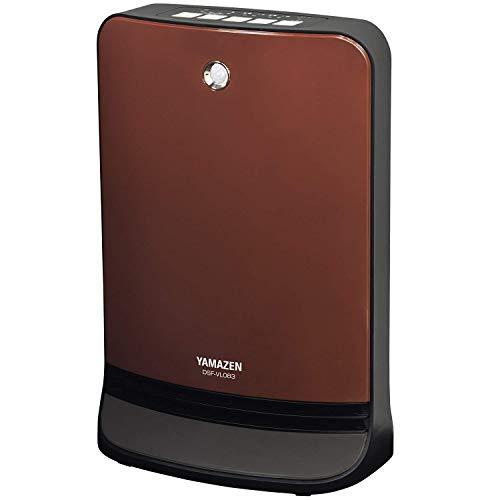 山善 人体感知センサー付セラミックヒーター(温度設定4段階・センサー運転機能付)(消臭フィルター付) ブラウン DSF-VL084(T)