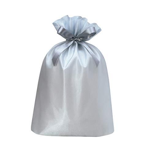 包む ラッピング袋 巾着 ノーブル プラチナシルバー LL T-2846-LL