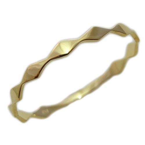 K18 指輪 レディース メビウス ダイヤマーキス 重ね付け (イエローゴールド・ホワイトゴールド・ピンクゴールド)