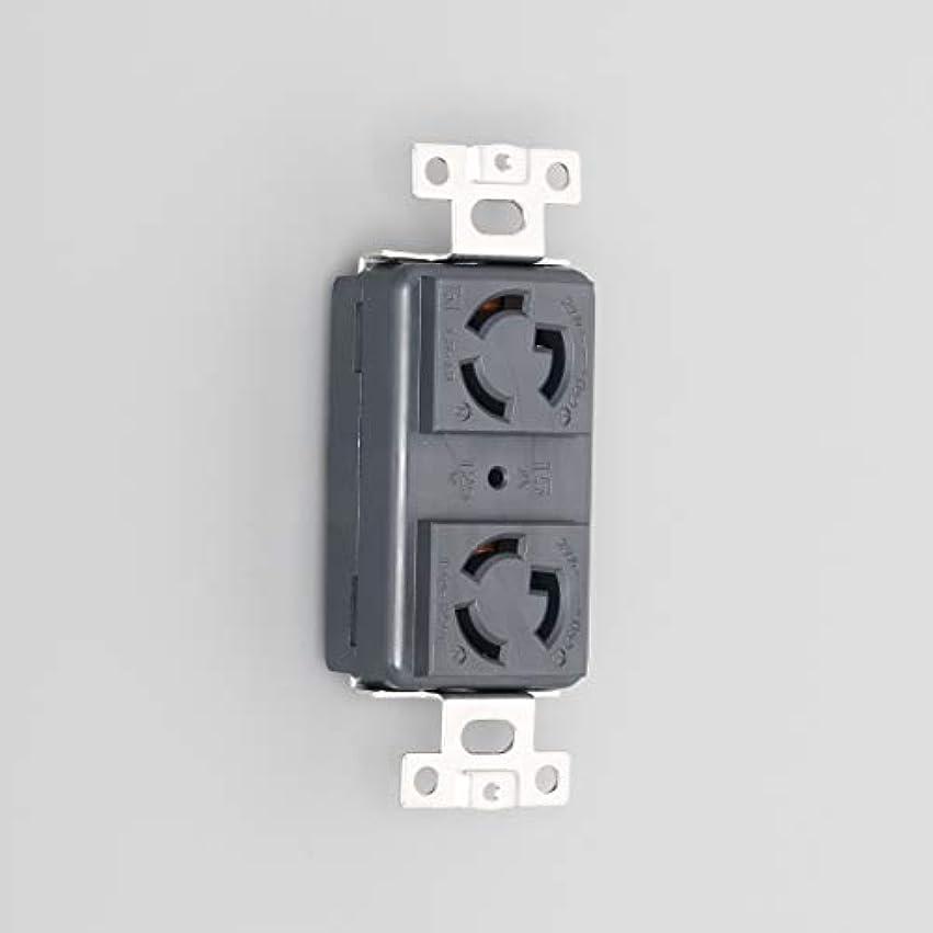 眩惑する隔離おとなしいアメリカン電機 複式横型埋込コンセント 引掛形 2ヶ 黒色 3110HD-L5-BK