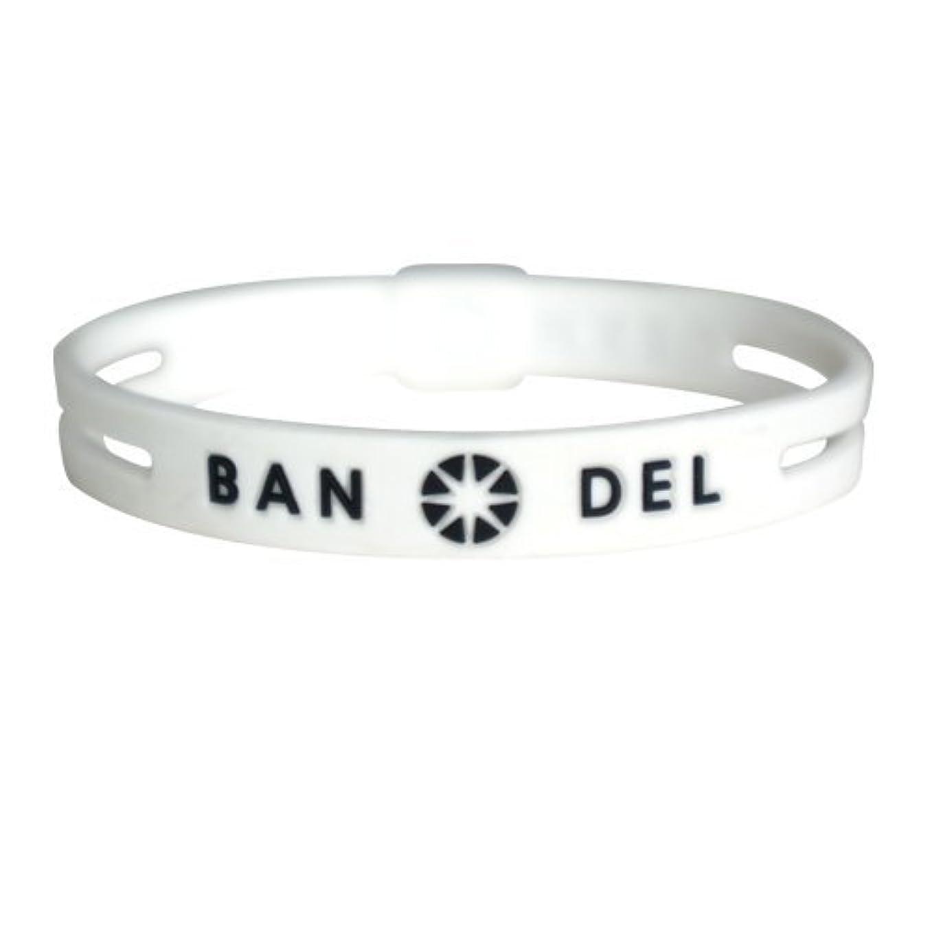どこでもマーチャンダイジングハンカチバンデル(BANDEL)ストリング ブレスレット[ホワイト×ブラック]Lサイズ(19.0cm)/正規品 アクセサリー ブレス スリム