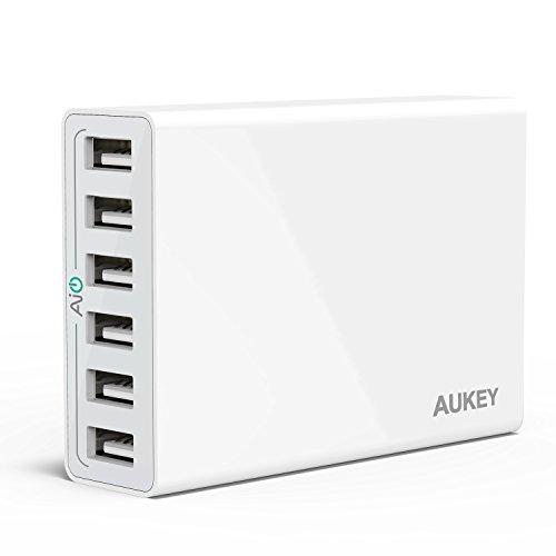 (オーキー)Aukey AIPower 50W 6ポートUSB急速充電器 ACアダプター Apple iPad/iPhone/iPod/Xperia/Nexus/Galaxy等対応 (ホワイト)PA-U14