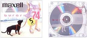 maxell 録音用MD(ミニディスク) burari 74分 5枚 BUMD74.5P