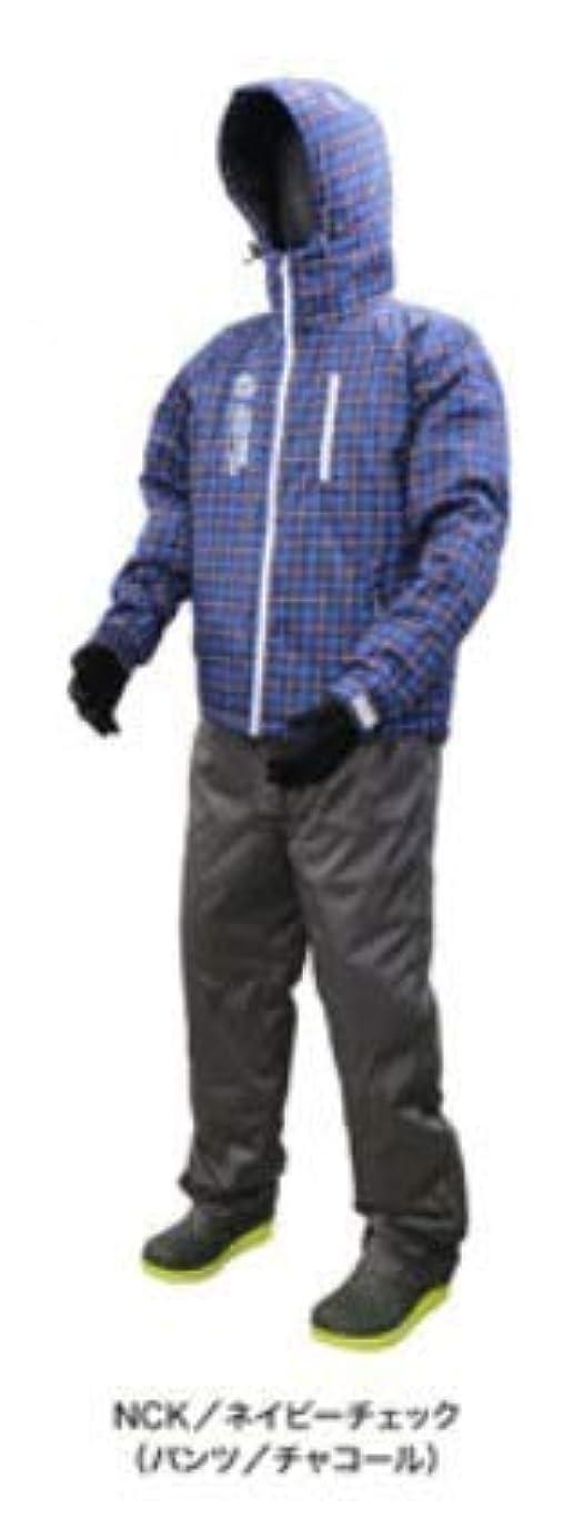 近く無駄に評決浜田商会 クロスファクター 防水防寒ウィンタースーツ ネイビーチェック WBA-1803 LL