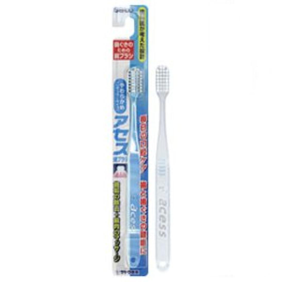 上院議員マークされたおしゃれなアセス歯ブラシ やわらかめ(レギュラータイプ) クリア 12本