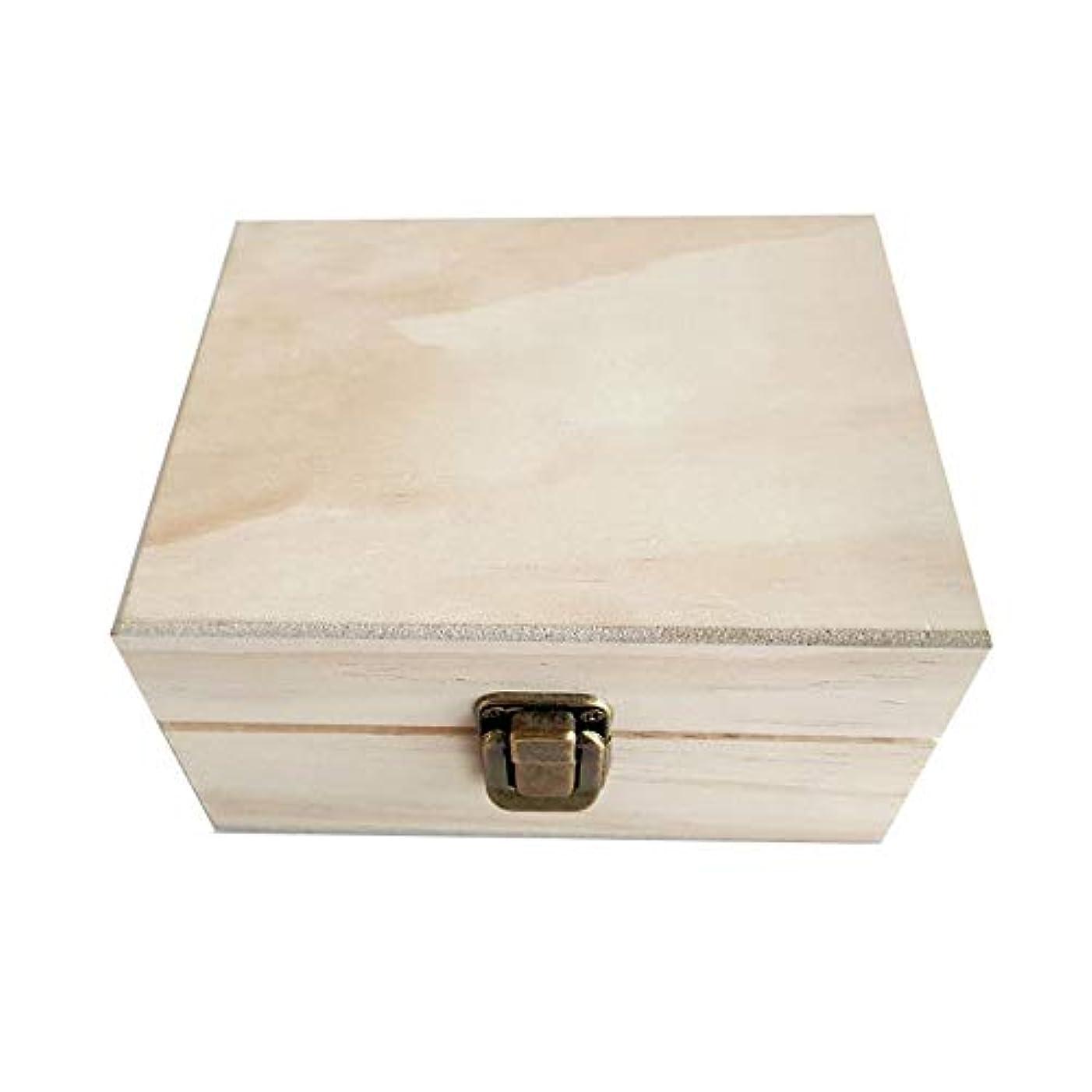 腐食する導出競うエッセンシャルオイルボックス 12本のボトルオイル、省スペースのストレージスロットオイルボックス木箱 アロマセラピー収納ボックス (色 : Natural, サイズ : 15X12X8.5CM)