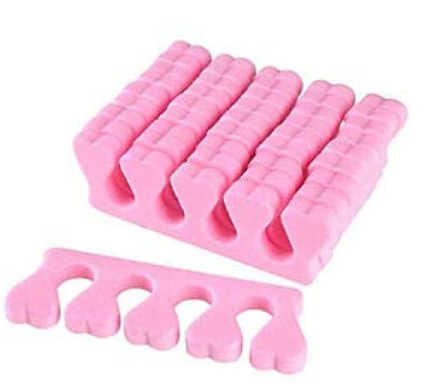 つま先のセパレータ 足指セパレーター ネイル アート つま先区切り アートペディキュア マニキュア 爪切りセット ピンク 50ペアセット