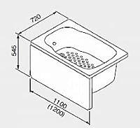 ノーリツ ガス給湯機器 バスイング(GTS)専用部材 FRP浴槽SP L/R(水栓穴無し) 【右排水】 1200mmタイプ【1272/C1N R】【1272-C1NR】