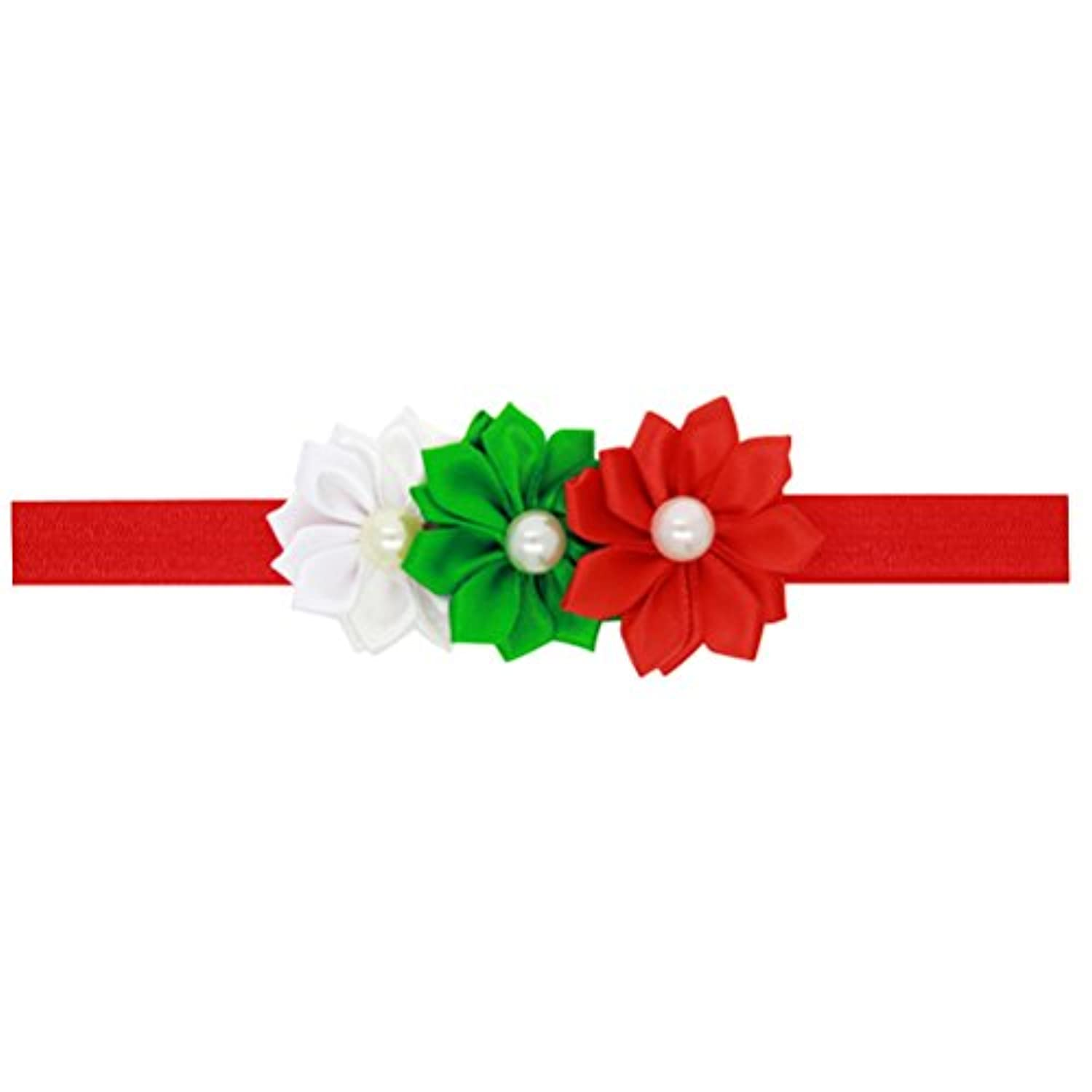 Zhhlinyuan ベビー小物 Kids ヘアアクセサリ Baby Girls Toddler Christmas/Photography Pops/Costume/Party Soft Elastic Flowers Headband Hairband 5129#
