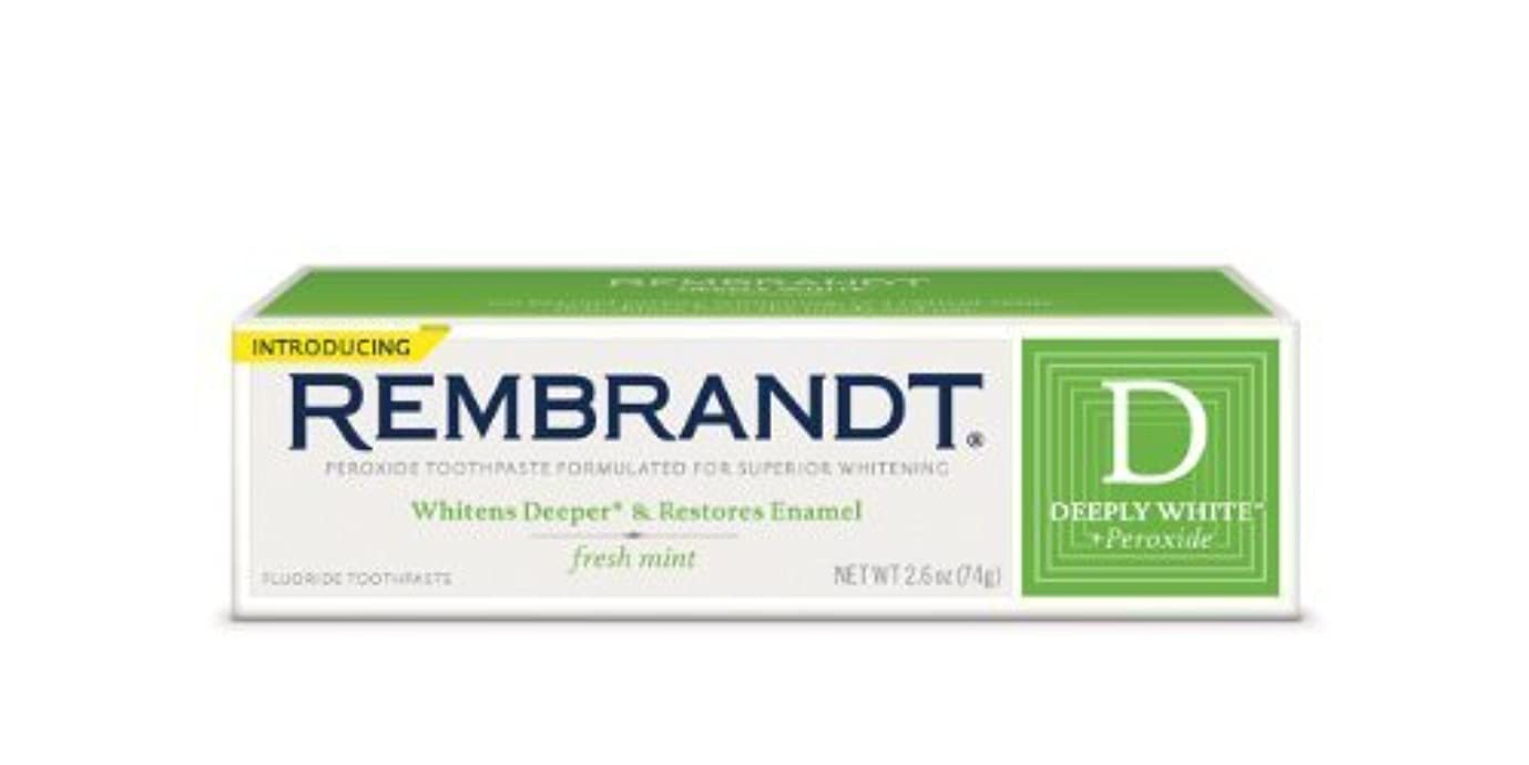 同情あえぎ稚魚Rembrandt Fluoride Toothpaste, Mint - 2.6 oz - Mint [並行輸入品]