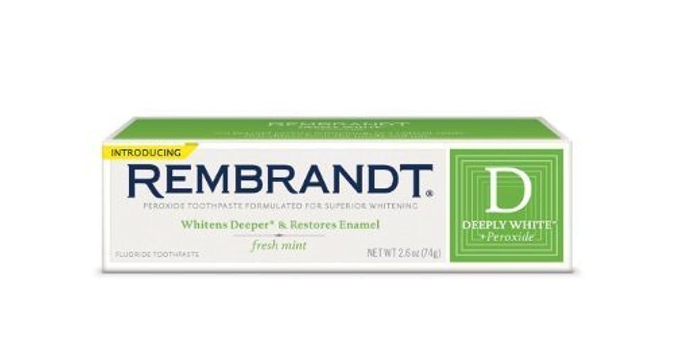 投げ捨てる気配りのある符号Rembrandt Fluoride Toothpaste, Mint - 2.6 oz - Mint [並行輸入品]