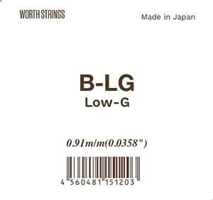 Worth ( ワース ) ウクレレ弦 単品 Low-G (ロウジー B-LG)