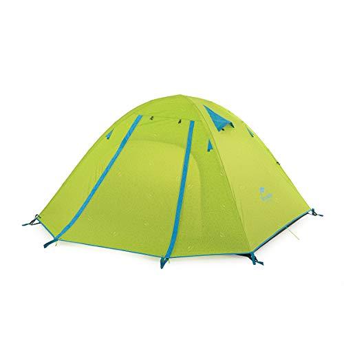 Naturehike公式ショップ テント Pシリーズ 3人用 アウトドア テント 二重層テント 超軽量キャンピングテント (グリーン)