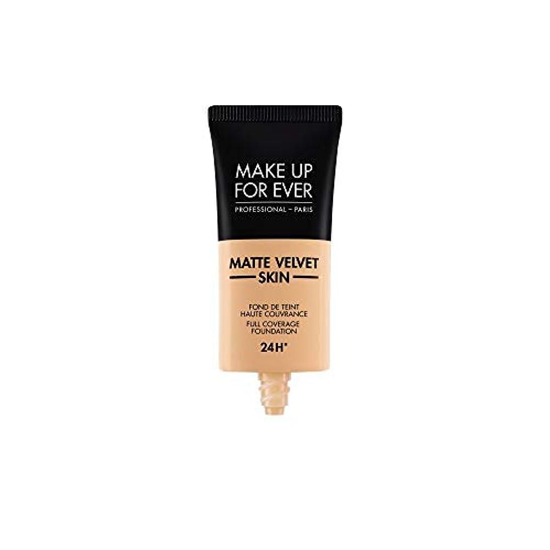 するだろう遺棄された余暇メイクアップフォーエバー Matte Velvet Skin Full Coverage Foundation - # Y305 (Soft Beige) 30ml/1oz並行輸入品