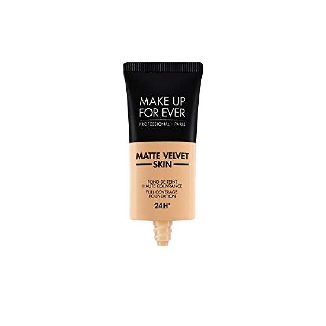 アラブサラボリアル真面目なメイクアップフォーエバー Matte Velvet Skin Full Coverage Foundation - # Y305 (Soft Beige) 30ml/1oz並行輸入品
