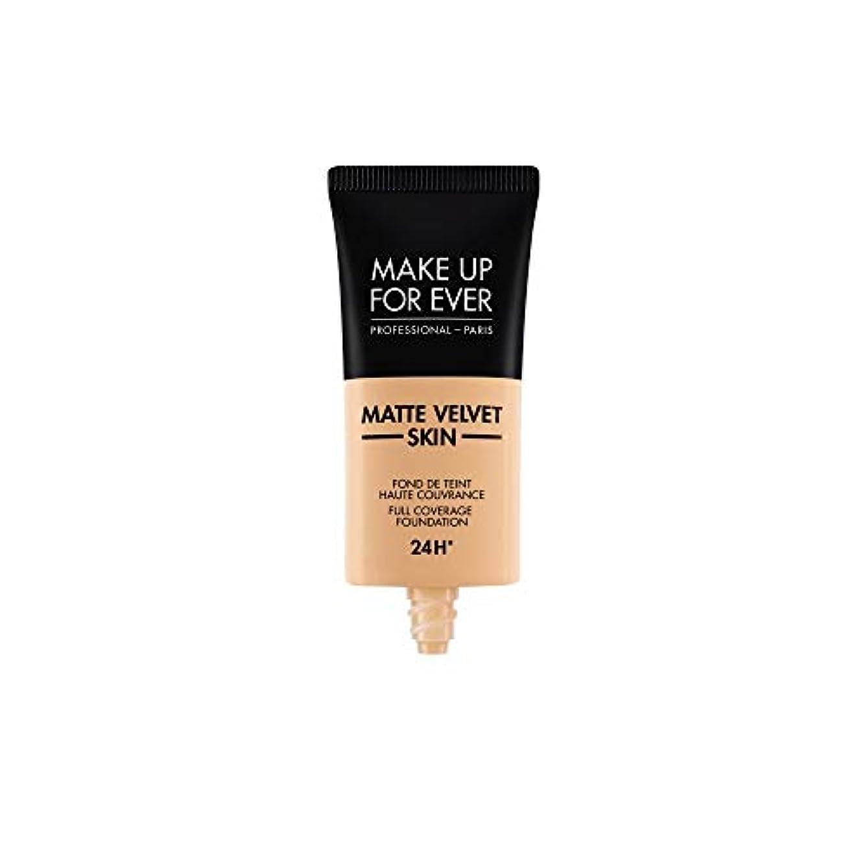 キャラバンペレット敵意メイクアップフォーエバー Matte Velvet Skin Full Coverage Foundation - # Y305 (Soft Beige) 30ml/1oz並行輸入品