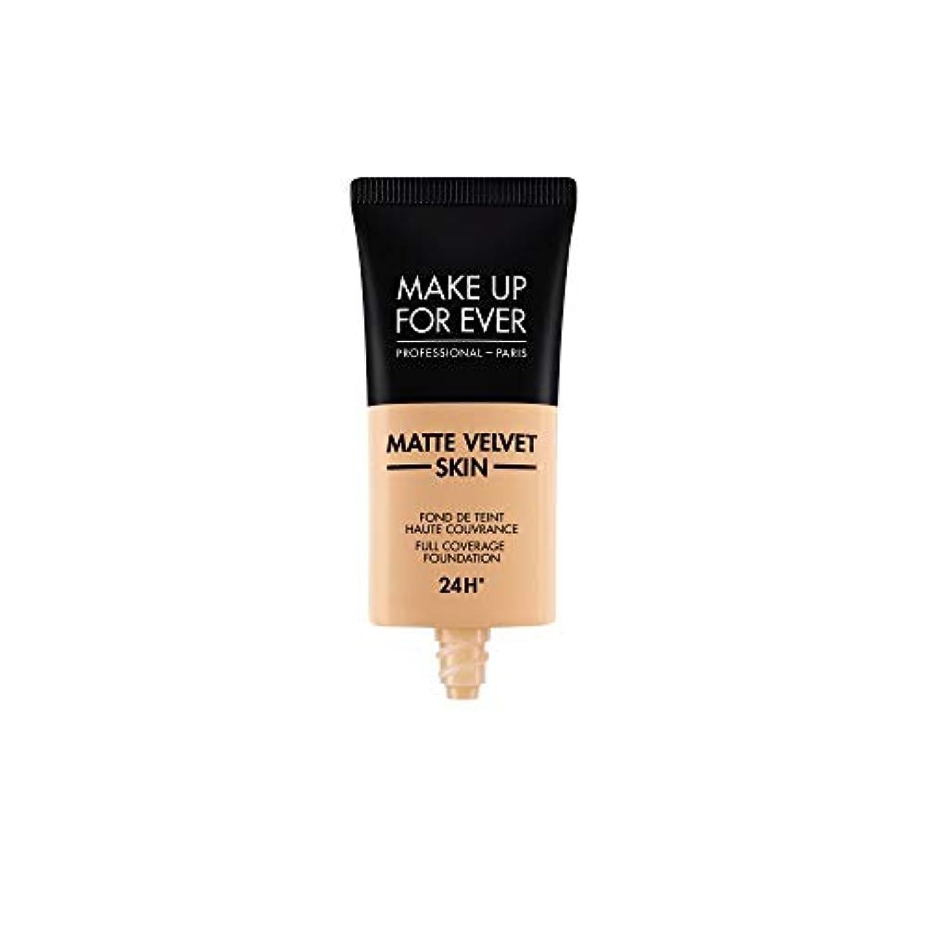 祈り貢献する予防接種するメイクアップフォーエバー Matte Velvet Skin Full Coverage Foundation - # Y305 (Soft Beige) 30ml/1oz並行輸入品