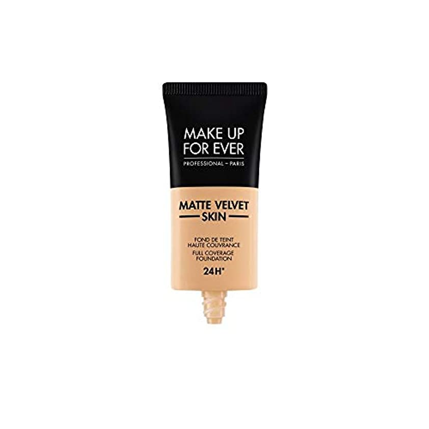 配分高める同性愛者メイクアップフォーエバー Matte Velvet Skin Full Coverage Foundation - # Y305 (Soft Beige) 30ml/1oz並行輸入品
