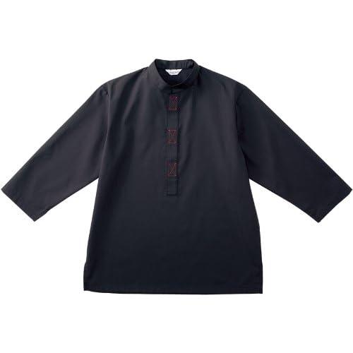 アジアン・和風【シャツ】(男女兼用)《031-DN-5459》 (3L, C-10 ブラック)