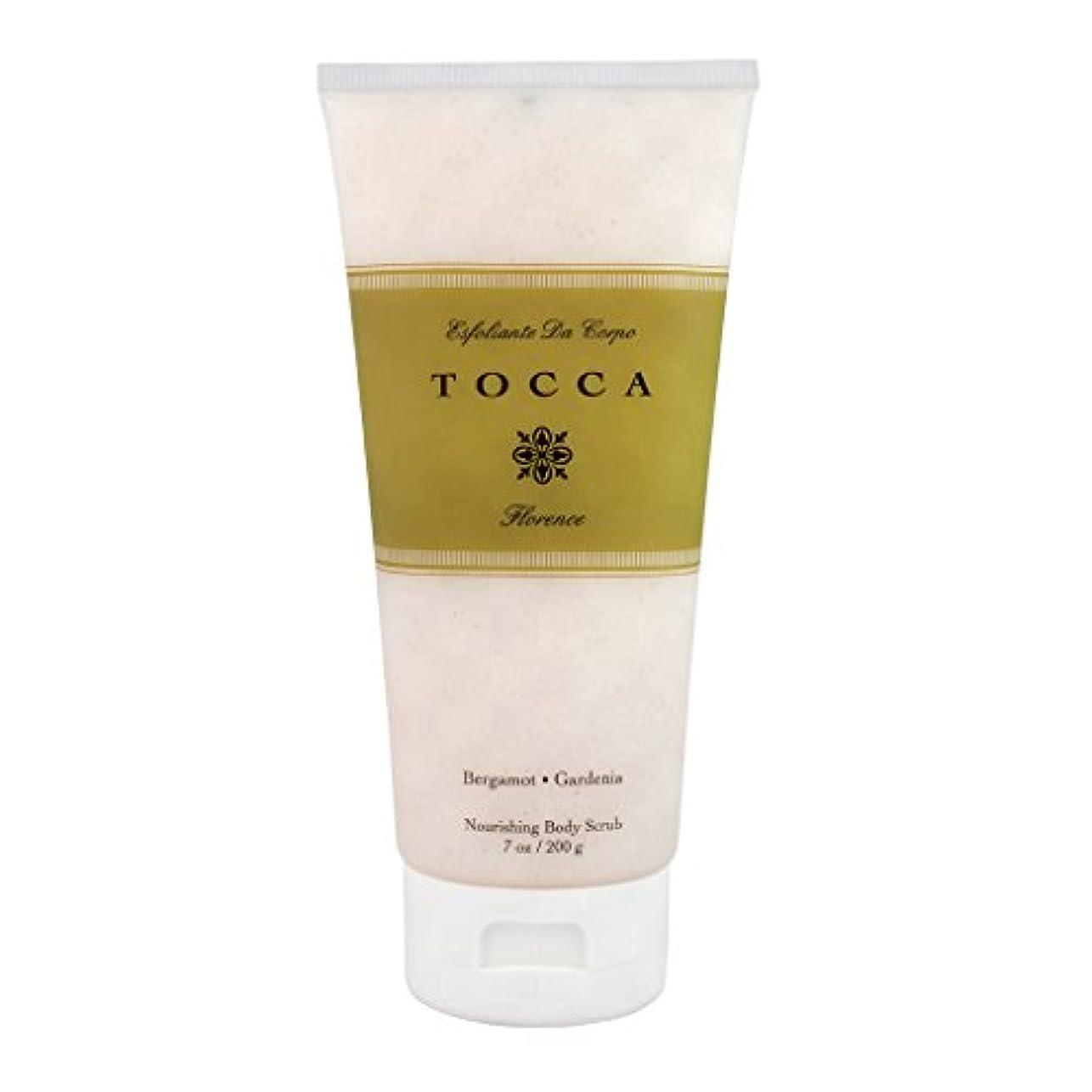 王族開業医構造トッカ(TOCCA) ボディーケアスクラブ フローレンスの香り 200ml(全身・ボディー用マッサージ料 ガーデニアとベルガモットが誘うように溶け合うどこまでも上品なフローラルの香り)