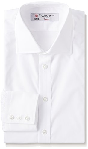 [ターンブル&アッサー] ドレスシャツ (ターンブル&アッサー) Turnbull & ASSER(ターンブル&アッサー) ジャパンフィット コットンポプリン イギリス製 リージェントカラー MSHI053-Z1001 White 16(41) メンズ UK (日本サイズM相当)