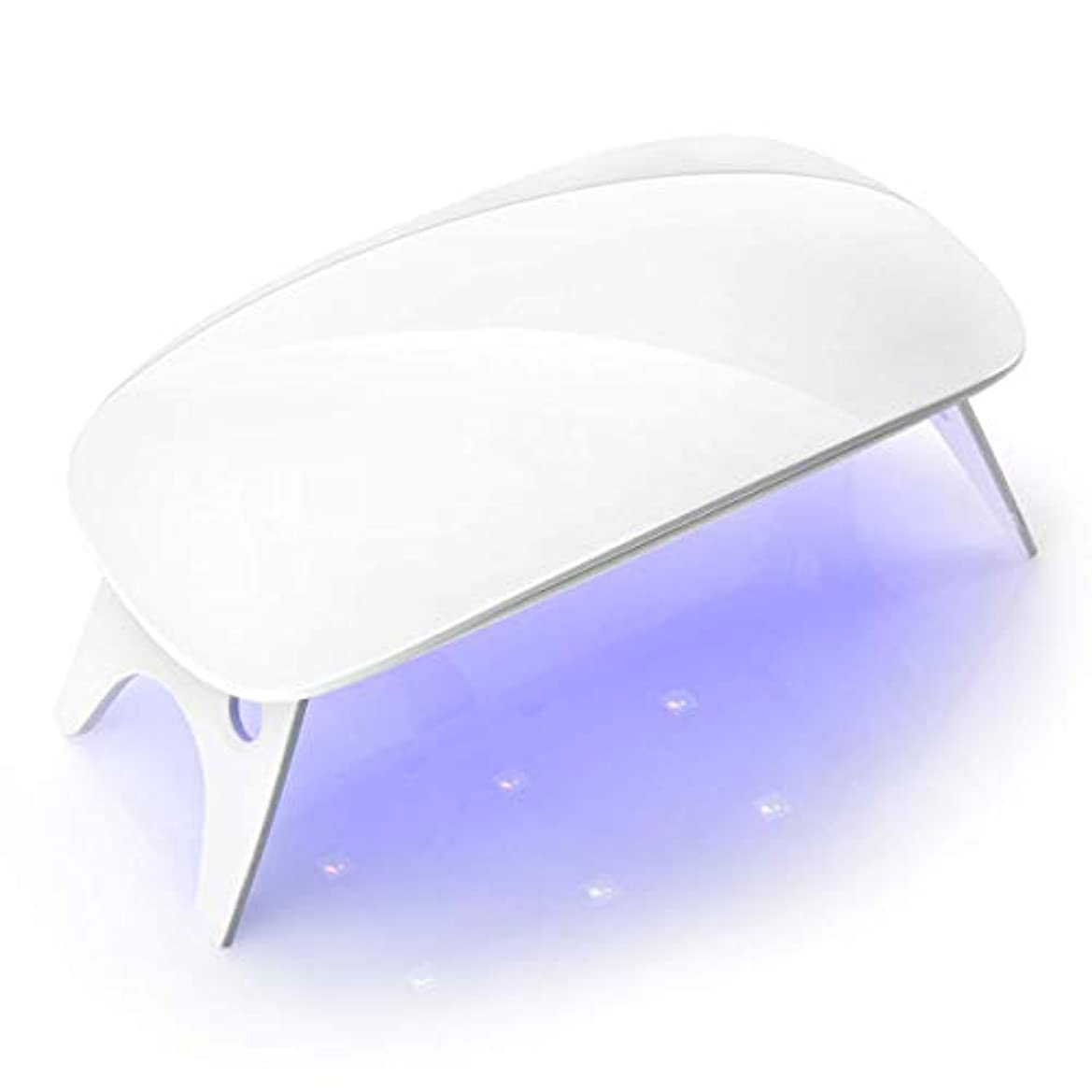 したい心理的白いLEDネイルドライヤーLEDジェルネイルドライヤーUVライト ジェルネイルライトusbライト硬化ライトLED タイマー設定可能折りたたみ式