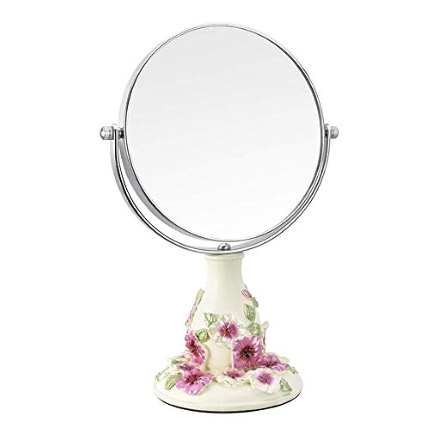 破産無法者お香流行の ビンテージ化粧鏡、鏡360°回転スタンド、1倍と3倍の倍率、ラウンドダブル両面回転化粧鏡