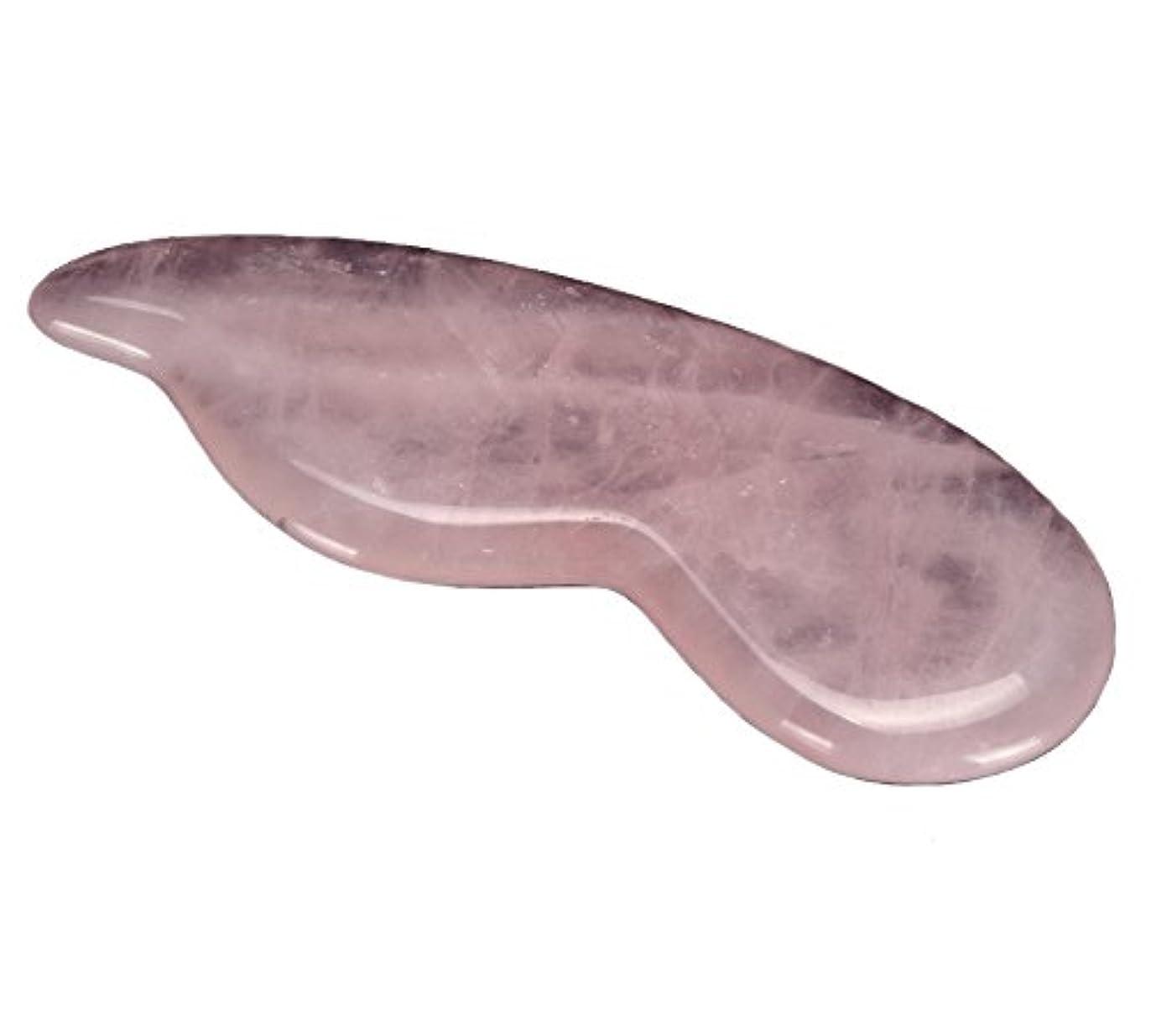操縦する芽細菌組み合わせできる2枚 美容マッサージ板 ローズクオーツかっさプレート マッサージ かっさ ny-amb006