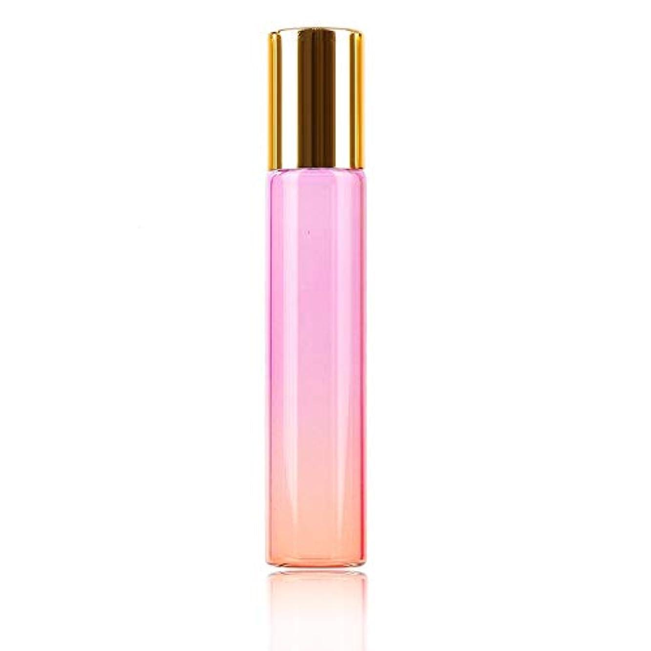 発見わがままシットコムエッセンシャルオイル空の香水瓶のローラーボールの旅行のための耐久性のボトル、10ML、パープル、オレンジ色のボトル、グラスオンの1pcs /クリニーク10ミリリットルグラデーションの色の厚いガラスロール