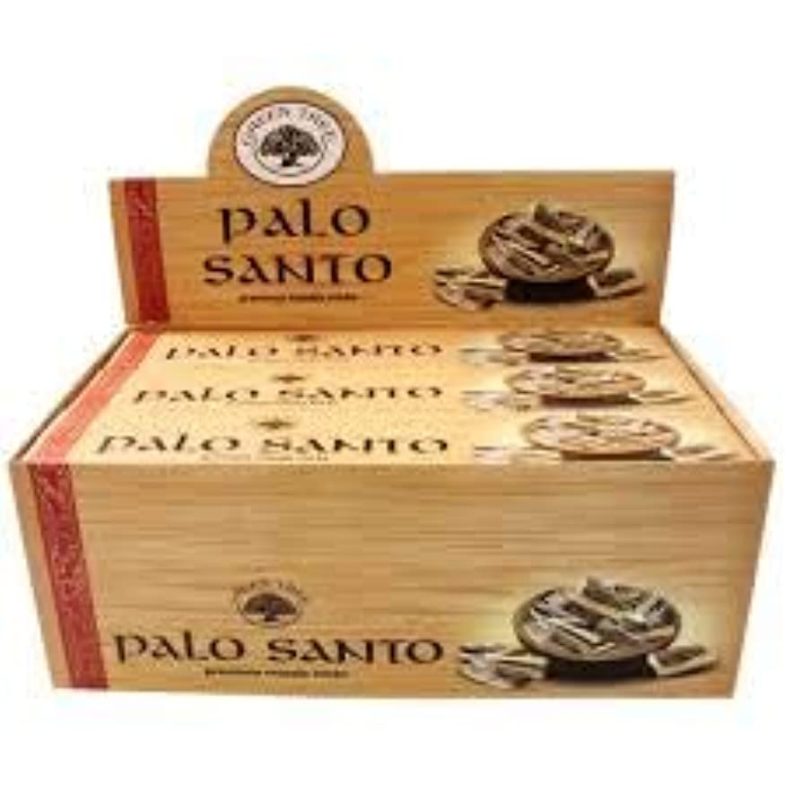 喪タオルコミットメントGREEN TREE PALO SANTO パロサント 聖なる樹 お香 スティック 約15本入 (1箱) [並行輸入品]