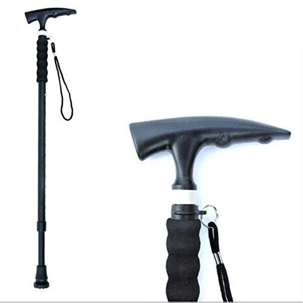 額かもしれない夏高齢者のために調節可能な軽量の望遠鏡のすべり止めの杖の高さ