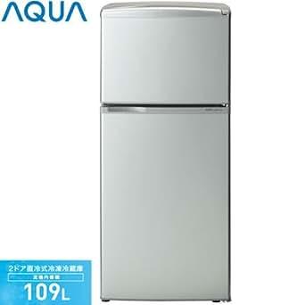 アクア 109L 2ドア冷蔵庫(直冷式)シルバーベーシックAQUA AQR-111A-SB