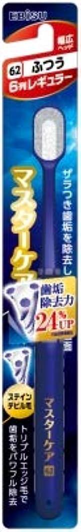 耐久石あいまいな【まとめ買い】マスターケアハブラシ?6列レギュラー ふつう ×6個