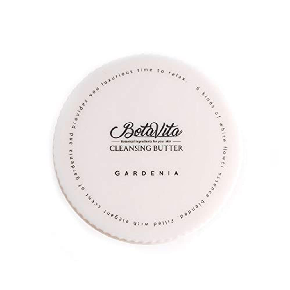 絵有益右BotaVita ボタヴィータ クレンジングバター<ガーデニア> 80g ダブル洗顔不要 マツエクOK 保湿ケア 毛穴汚れオフ