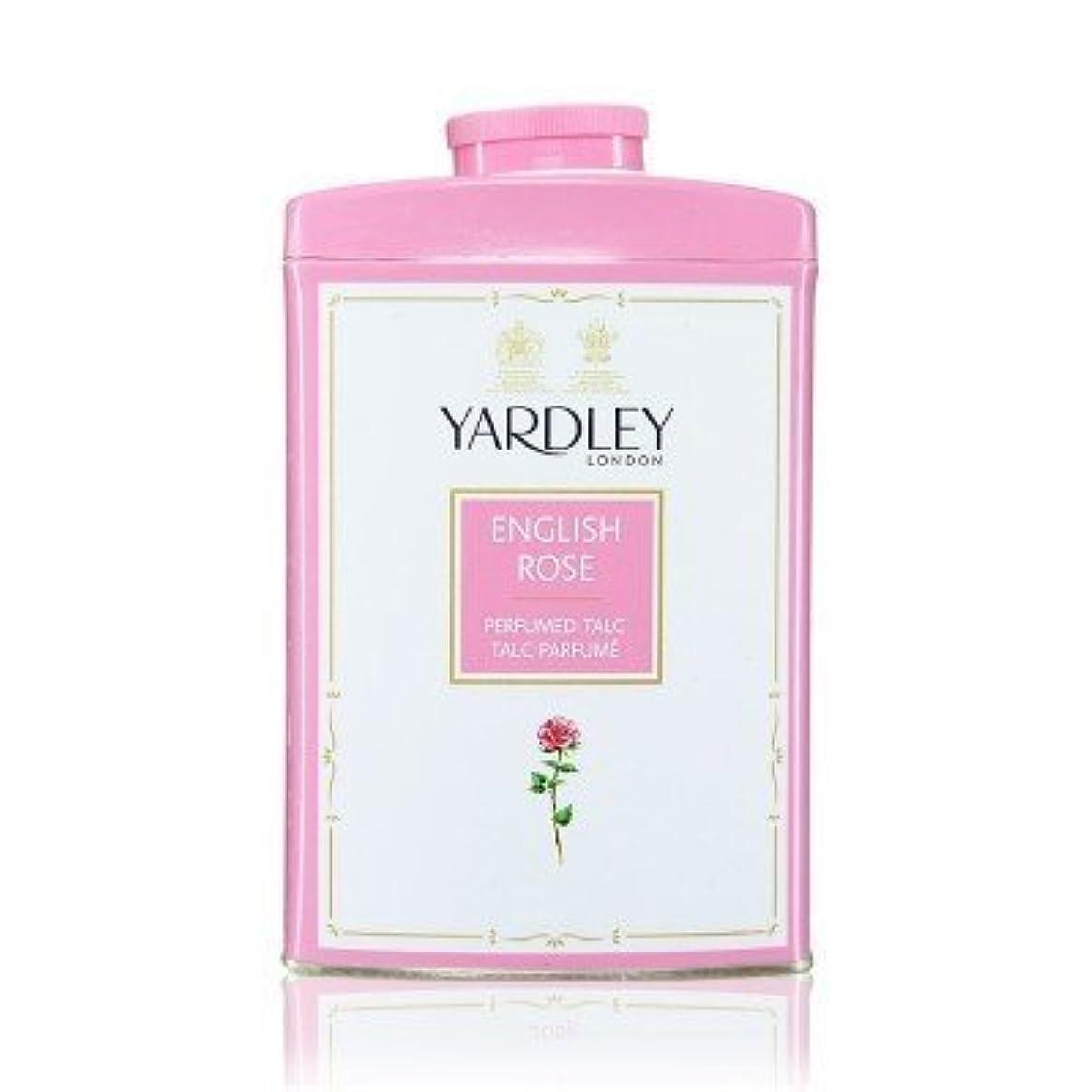ポットこれら膨らませるYardley English Rose Perfumed Talc, 250 g by Yardley [並行輸入品]