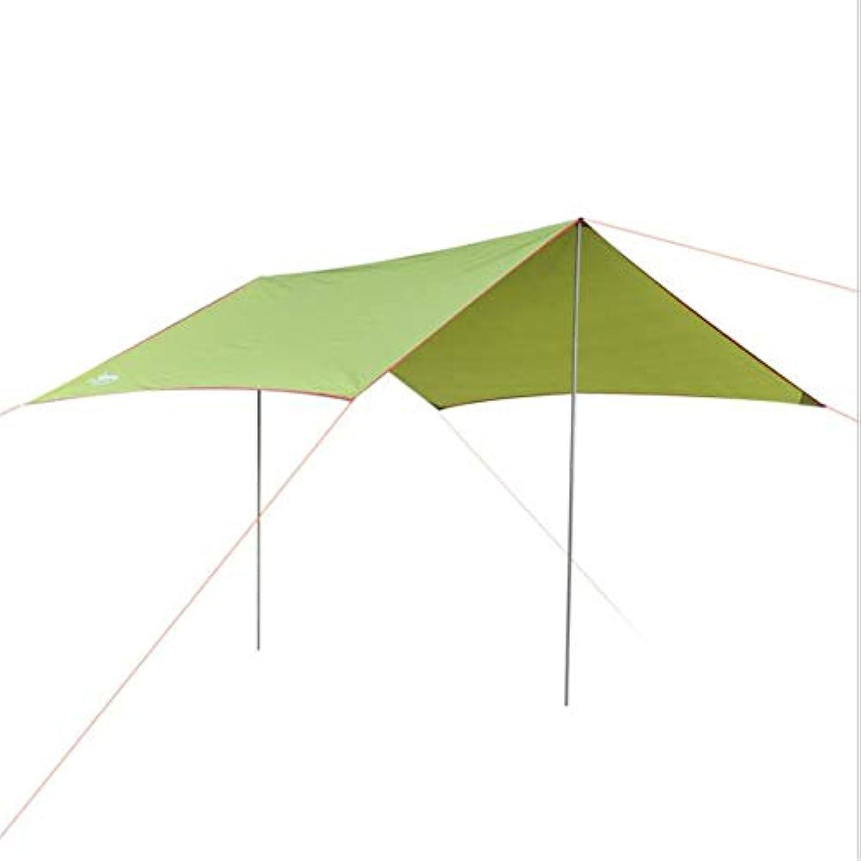 カバレッジライトニング寛大なOkiiting ポータブルテント9.8 x 9.8フィート防水テント屋外キャンプテント耐摩耗性デザインファッションカラー品質保証 うまく設計された (色 : 緑, サイズ : Free size)