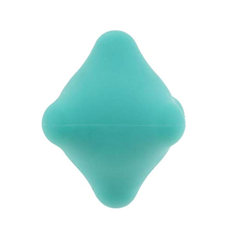 郡矛盾に負ける全9色 マッサージボール 指圧ボール 六角 筋膜リリース トリガーポイント 背中 足裏 ストレス解消 - 濃い緑色, 4.4cm