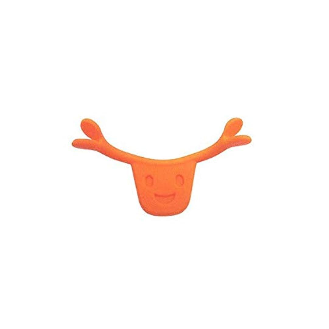 肉残基大聖堂ポータブルサイズ男性女性本格的な魅力的なスマイルブレース口唇エイドスマイルフェイストレーニングコレクターフェイスライフツール(Color:orange)
