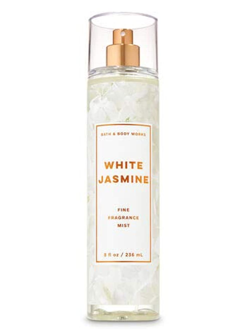 アンビエント炭素時間厳守【Bath&Body Works/バス&ボディワークス】 ファインフレグランスミスト ホワイトジャスミン Fine Fragrance Mist White Jasmine 8oz (236ml) [並行輸入品]