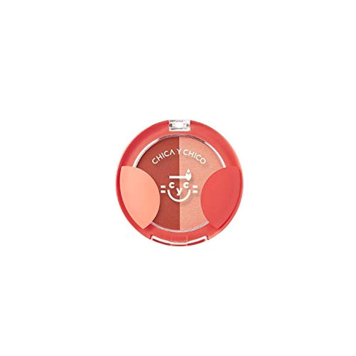 月曜慢性的控えめな[チカイチコ]ワンタッチデュオチーク4号 (ロージーボンファイア)■高発色