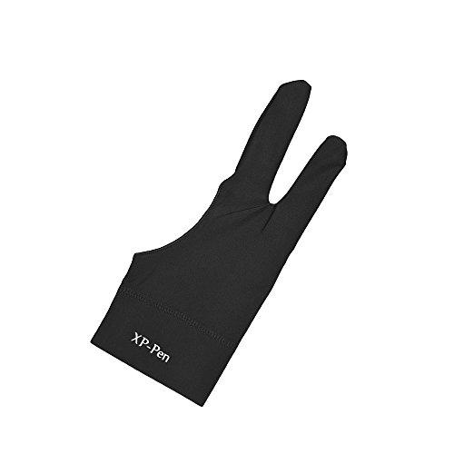 Aibecy 二本指 防汚グローブ 液晶ペン タブレット用 絵描き 手袋 両利き通用 一枚入れ S ...