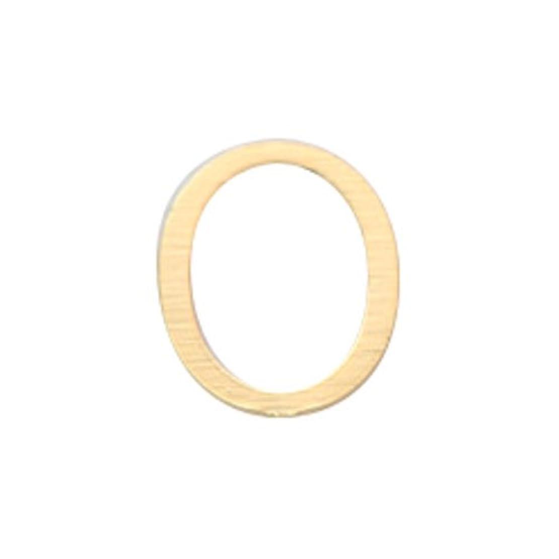 橋脚もペイントリトルプリティー ネイルアートパーツ アルファベット O ゴールド 10個