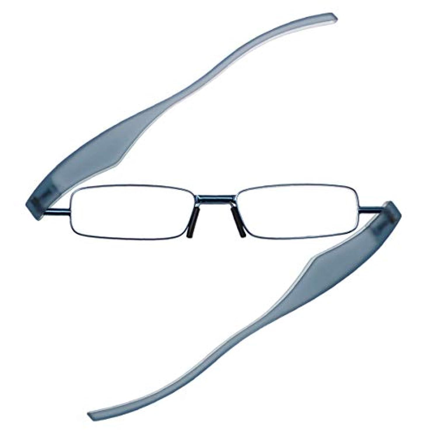 価値レンディション発音ポッドリーダースマートプラス ブルー 新型 ノーズパッド付 PodReader Smart 折りたたみ式 +1.0~+3.0 携帯 軽量 リーディンググラス スマホ老眼鏡 度数+1.00 BU