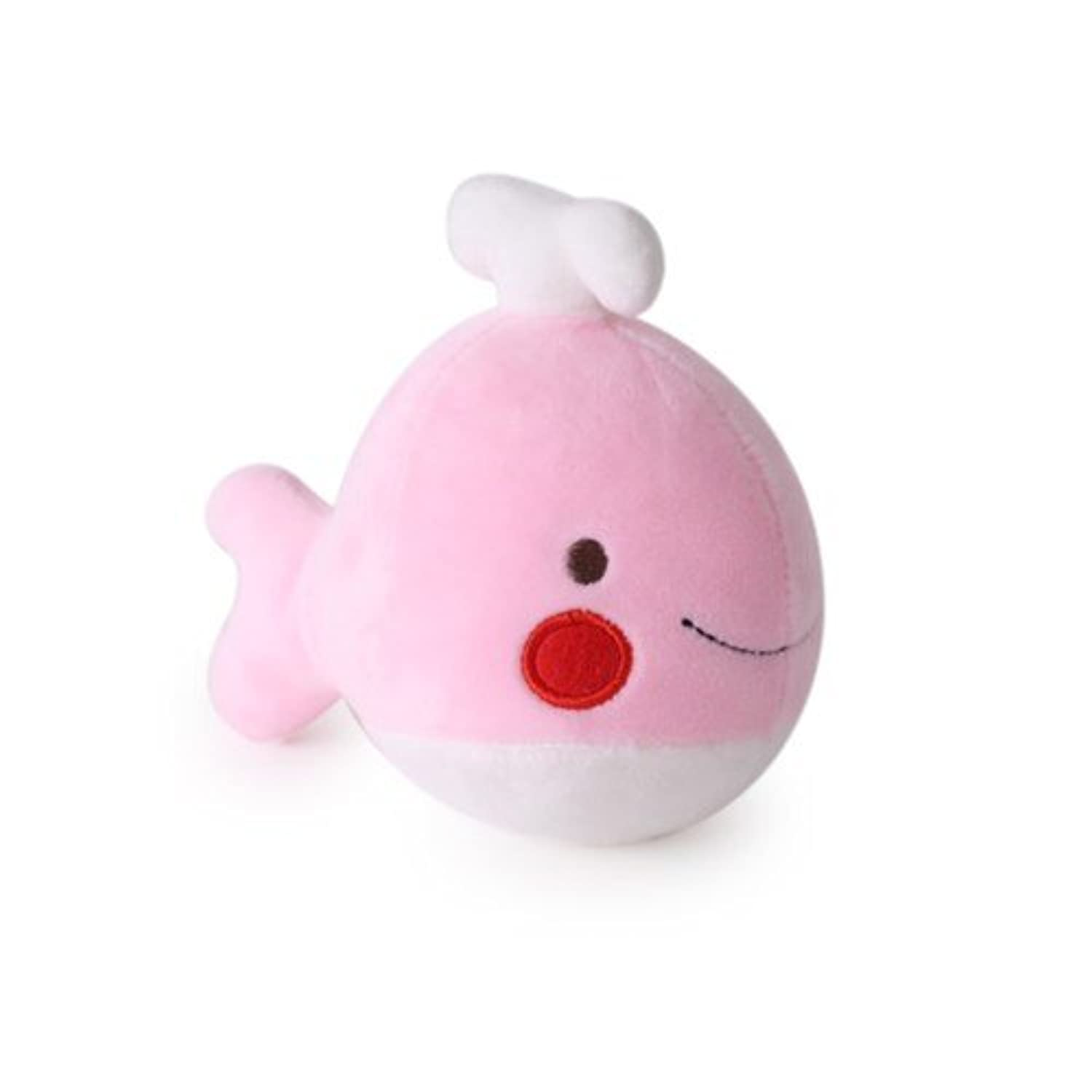 Character Cushion Toy - whale Rag Doll 16cm Pink