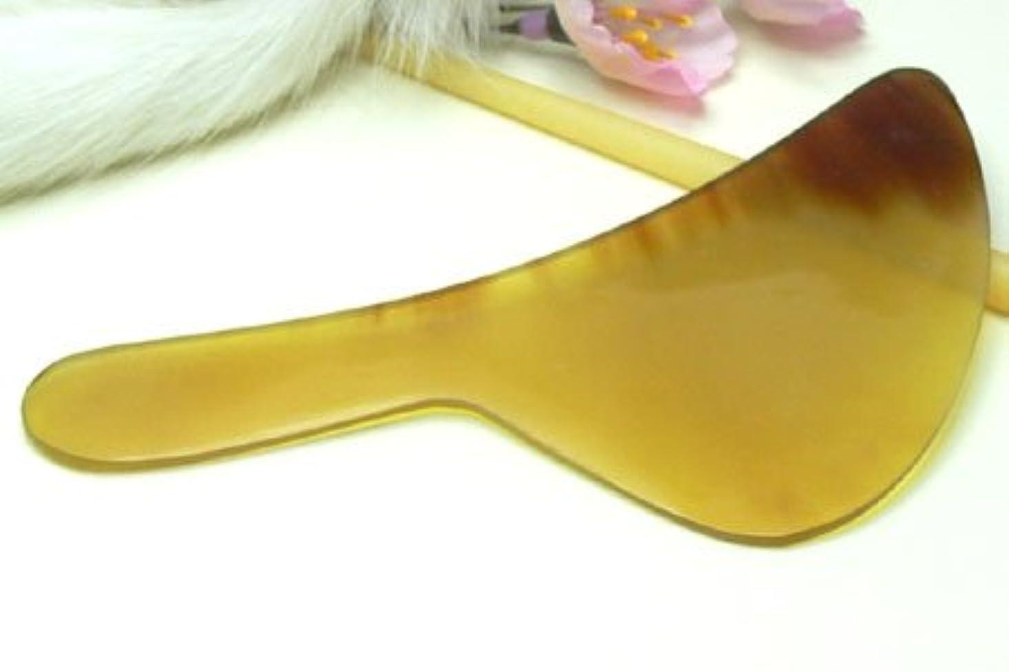薄い追跡シャンパンかっさ板、美容、刮莎板、グアシャ板,水牛角製